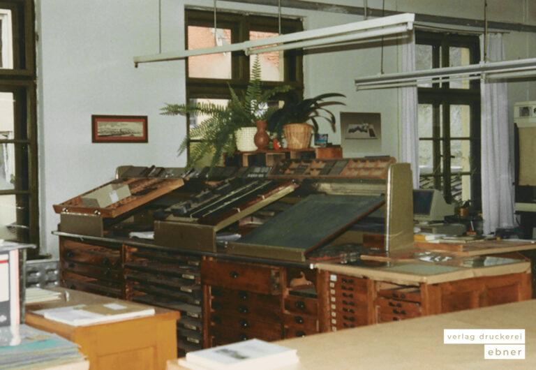 Verlag Druckerei Ebner Historie